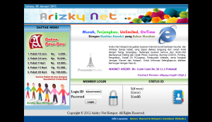 page login arizky net_2012
